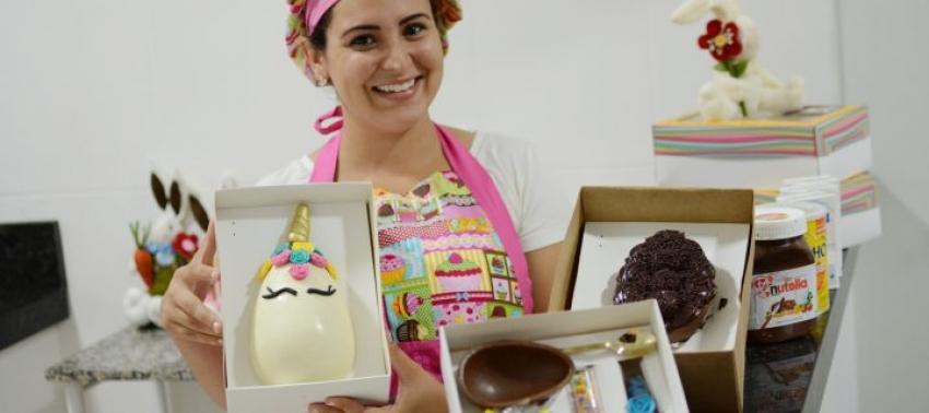 Ovos de Páscoa personalizados fazem sucesso entre crianças